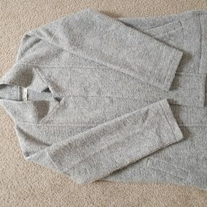 Wool sweater blazer